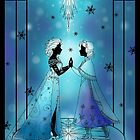 Silhouette Anna and Elsa by Redhead-K