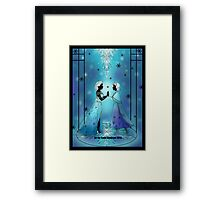 Silhouette Anna and Elsa Framed Print