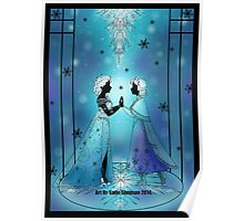 Silhouette Anna and Elsa Poster