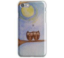 2 Owls Sleeping iPhone Case/Skin