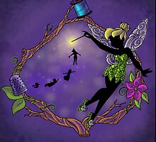 Silhouette Tinkerbell by Redhead-K