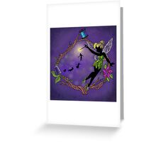 Silhouette Tinkerbell Greeting Card