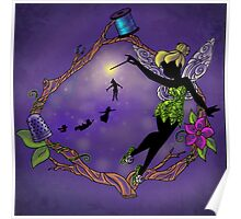 Silhouette Tinkerbell Poster