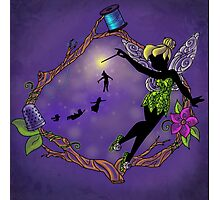 Silhouette Tinkerbell Photographic Print