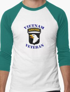 101st Airborne Vietnam Veteran -  iPad Case Men's Baseball ¾ T-Shirt
