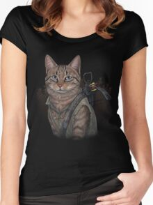 Daryl Dixon Cat Women's Fitted Scoop T-Shirt