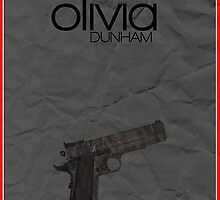 Fringe minimalist poster, Olivia Dunham (alternate universe) by hannahnicole420