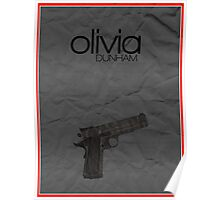 Fringe minimalist poster, Olivia Dunham (alternate universe) Poster