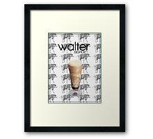 Fringe minimalist poster, Walter Bishop Framed Print