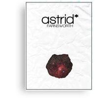 Fringe minimalist poster, Astrid Farnsworth Canvas Print