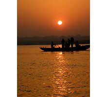 Sunrise on the Ganges Photographic Print