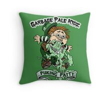 "Garbage Pale Kidz ""Puking Patty"" Throw Pillow"