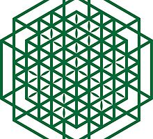 Cube of Life Mandala by Cameron Simpson