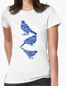 three lil birds. Womens Fitted T-Shirt