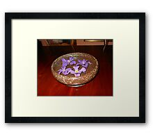 The Swimmers - Purple Clematis Blossoms Framed Print