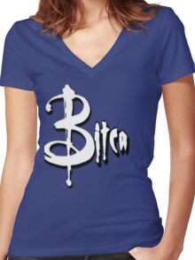 A BITCA? Buffy when she was bad Women's Fitted V-Neck T-Shirt