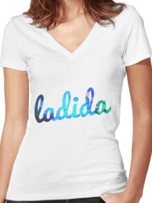 Ladida Women's Fitted V-Neck T-Shirt