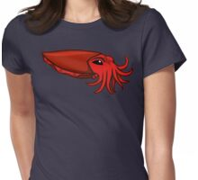 Red Cuttlefish Womens Fitted T-Shirt