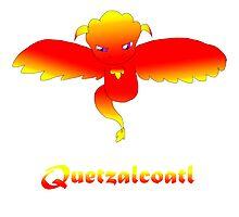 Open Wing Quetzalcoatl Red Photographic Print