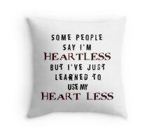 Heartless Throw Pillow