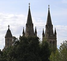 'A Sense of Place!' Beautiful Spires of St. Peter's Cathedral, Adelaide C.B.D. by Rita Blom
