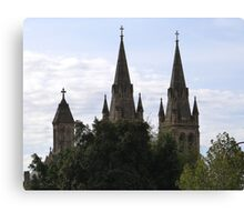 'A Sense of Place!' Beautiful Spires of St. Peter's Cathedral, Adelaide C.B.D. Canvas Print