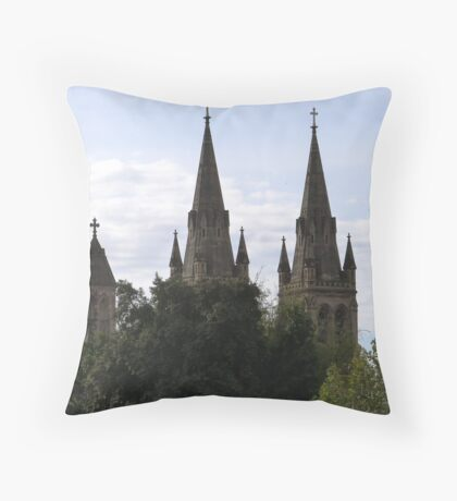 'A Sense of Place!' Beautiful Spires of St. Peter's Cathedral, Adelaide C.B.D. Throw Pillow