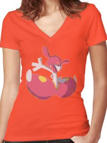 Pokemon Medicham Design Women's Fitted V-Neck T-Shirt
