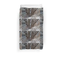 Winter by the pond Duvet Cover