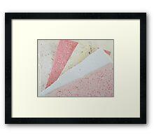Handmade Recycled Paper Framed Print