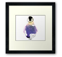 Geometric Animal - Baby Penguin Framed Print