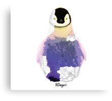 Geometric Animal - Baby Penguin Canvas Print