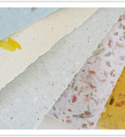 Handmade Recycled Paper Sticker