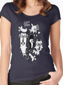 Love Your Pets Women's Fitted Scoop T-Shirt