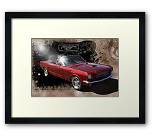 Top Down Mustang Framed Print