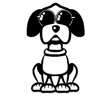 dog funny cute sunglasses by Motiv-Lady