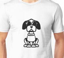 dog funny cute sunglasses Unisex T-Shirt