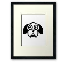 dog funny cute curly Framed Print