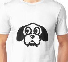 dog funny cute curly Unisex T-Shirt