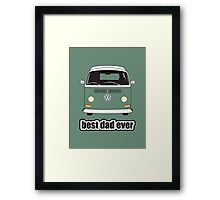 Best Dad Ever Green Early Bay Framed Print