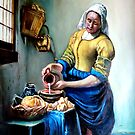 The Milkmaid after Johannes Vermeer by Hidemi Tada
