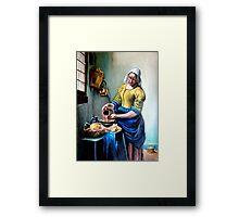 The Milkmaid after Johannes Vermeer Framed Print