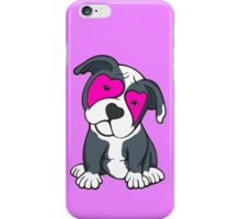 Love Hearts American Pit Bull Terrier Puppy  iPhone Case/Skin
