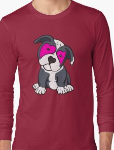Love Hearts American Pit Bull Terrier Puppy  Long Sleeve T-Shirt