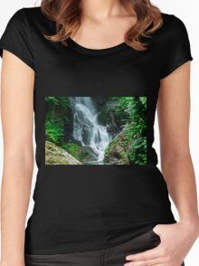 Beautiful Waterfall  Women's Fitted Scoop T-Shirt