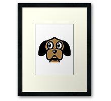 funny cute dog head Framed Print