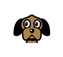 funny cute dog head Photographic Print