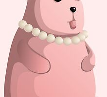 Cute Little Pink Teddy Bear with Bow Tie by pdgraphics