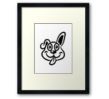 dog funny cute naughty Framed Print