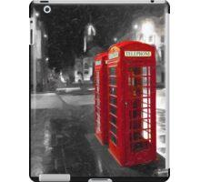 Edinburgh On The Phone - Classic Red British Phone Box iPad Case/Skin